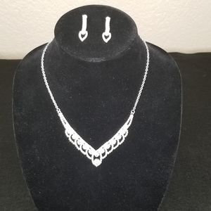 Elegant Rhinestone Necklace and Earrings